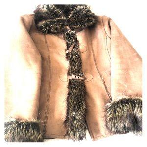 Beautiful Utex suede furry jacket!